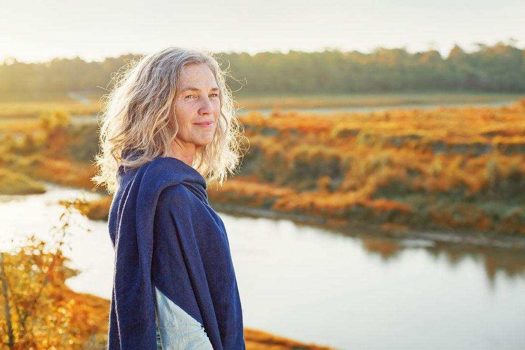 woman-river