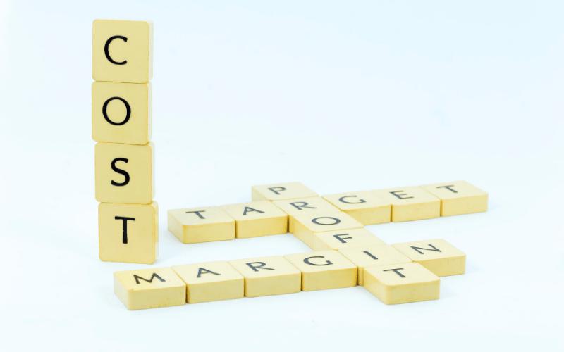 Scrabble tiles spelling cost